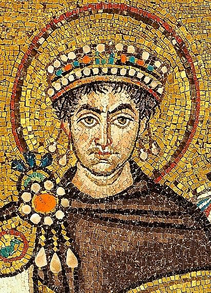 Мозаика церкви Сан-Витале в Равенне (Император Юстиниан I, в честь которого получила свое название эпидемия чумы)