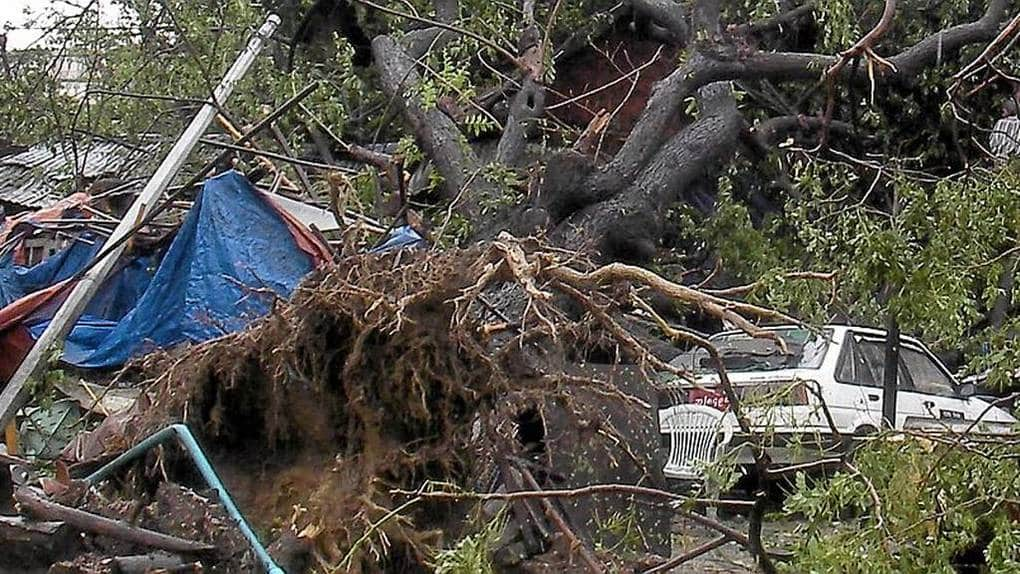 Цунами 2008 год. Метеоцунами достигшее Мьянмы.